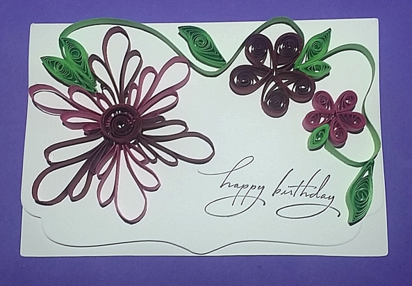 Paper quilling flowers card and new paper quilling board 20141019123016 mightylinksfo
